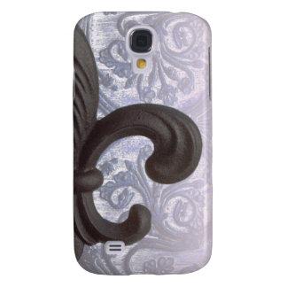 """indigo/rose """"iron fleur de lis"""" Galaxy S4 case"""