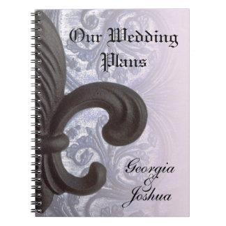"indigo/rose ""iron fleur de lis""  PLANNING NOTEBOOK"