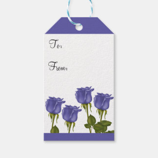 Indigo Roses Pack Of Gift Tags