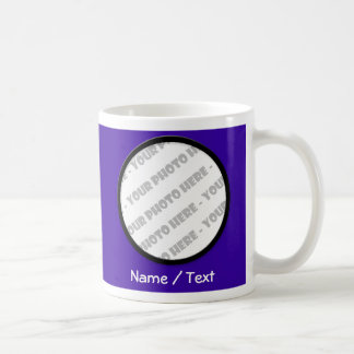 Indigo Round Photo & Text Mug - Create Your Own