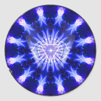 Indigo Scout Mandala Classic Round Sticker