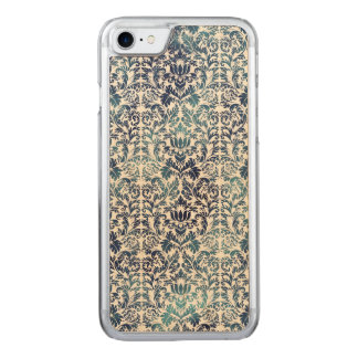 Indigo Shibori Damask Distressed Blue Purple Carved iPhone 8/7 Case