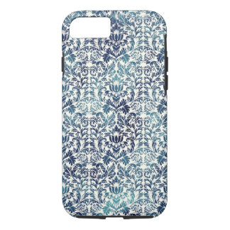 Indigo Shibori Damask Distressed Blue Purple iPhone 8/7 Case