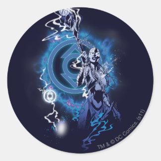 Indigo Tribe 11 Round Sticker