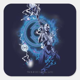 Indigo Tribe 11 Square Sticker