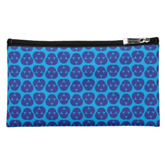 Indigo unique polka dot mix cosmetic bag