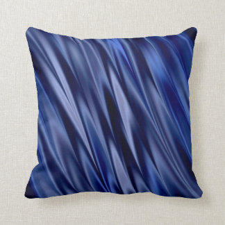 Indigo & violet blue satin style stripes throw pillow
