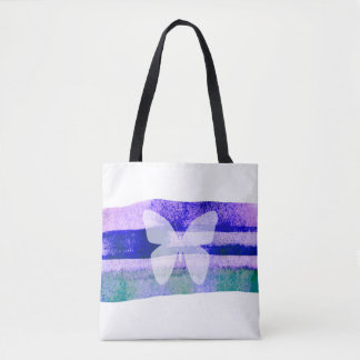 Indigo Watercolor Butterfly Tote Bag