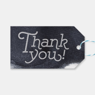 Indigo watercolor modern simple wedding thank you pack of gift tags