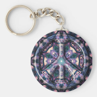 Indigo Wild Peace Basic Round Button Keychain