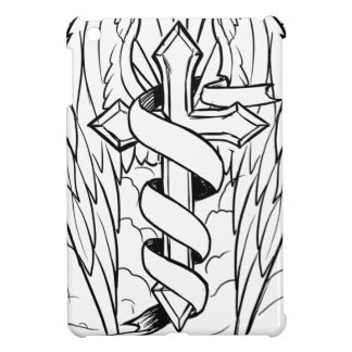 Individual cross with wings iPad mini cases