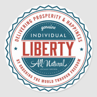 Individual Liberty Classic Round Sticker