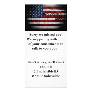 Indivisible Idaho MoC Drop Off Card Picture Card