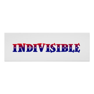 Indivisible Patriotic colors red white and blue Poster
