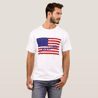 "Indivisible T-shirt with ""Indivisible"" on flag"