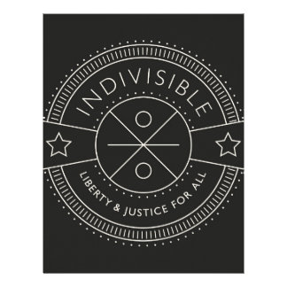 Indivisible, with liberty and justice for all. letterhead