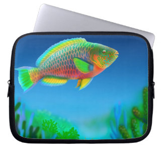 Indo Pacific Reef Parrotfish Electronics Bag Computer Sleeves