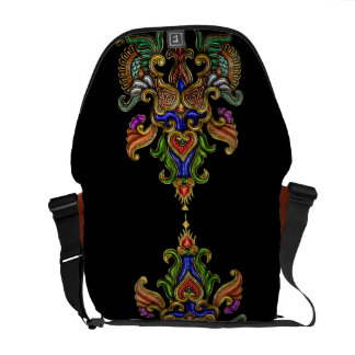 Indonesia Art design in cloisonné Courier Bags