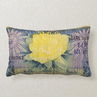 Indonesia bank note lumbar pillow