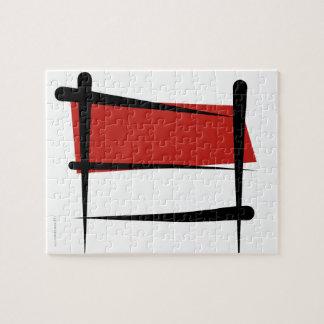 Indonesia Brush Flag Puzzle