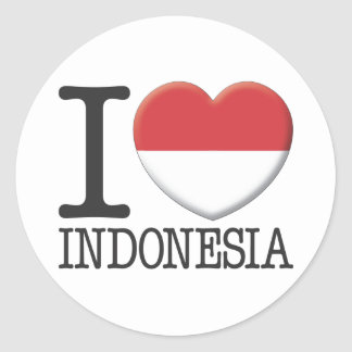Indonesia Classic Round Sticker