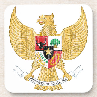 Indonesia Coat Of Arms Drink Coaster