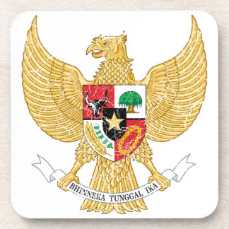Indonesia Coat Of Arms Drink Coasters