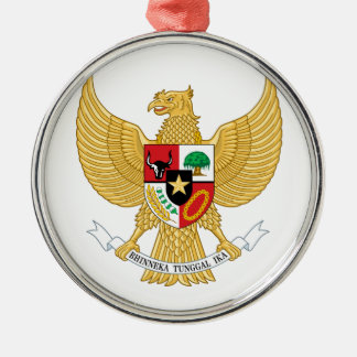 Indonesia Coat Of Arms Metal Ornament