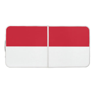 Indonesia Flag Beer Pong Table