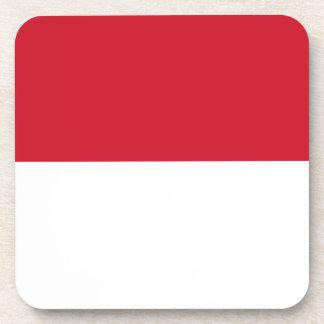 Indonesia Flag Beverage Coaster