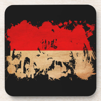 Indonesia Flag Beverage Coasters