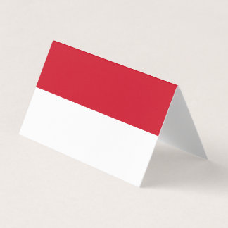 Indonesia Flag Business Card