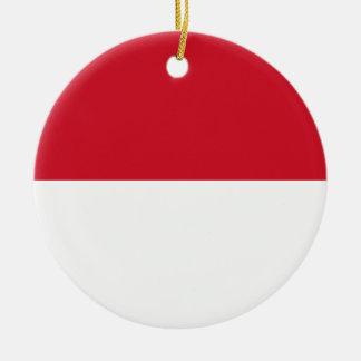 Indonesia Flag Ceramic Ornament