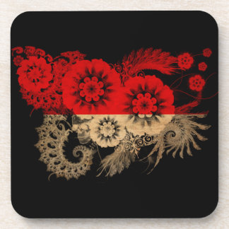 Indonesia Flag Drink Coasters