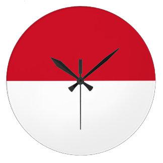 Indonesia Flag Large Clock