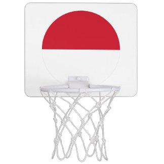 Indonesia Flag Mini Basketball Hoop