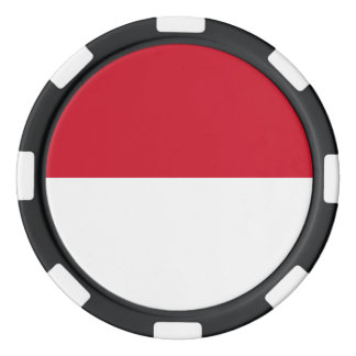 Indonesia Flag Poker Chips