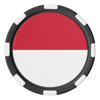 Indonesia Flag Poker Chips Set