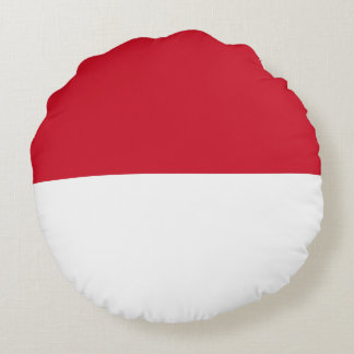 Indonesia Flag Round Pillow