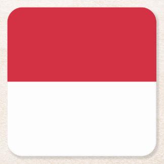 Indonesia Flag Square Paper Coaster