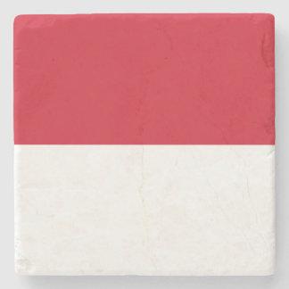 Indonesia Flag Stone Beverage Coaster