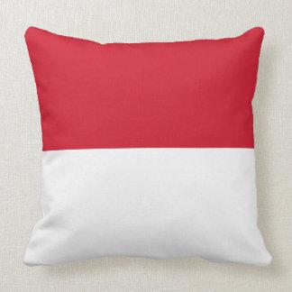 Indonesia Flag Throw Pillow