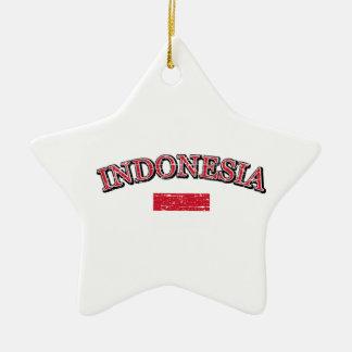 Indonesia football design ceramic ornament