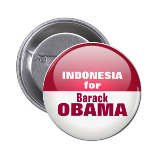 INDONESIA for OBAMA 2 Inch Round Button
