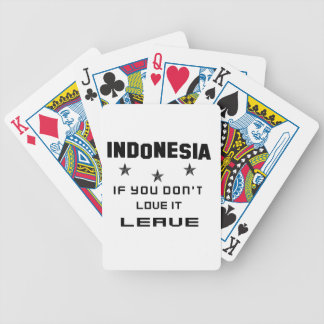 Indonesia If you don't love it, Leave Poker Deck