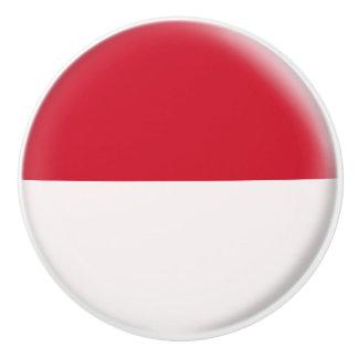 Indonesia Indonesian Flag Ceramic Knob