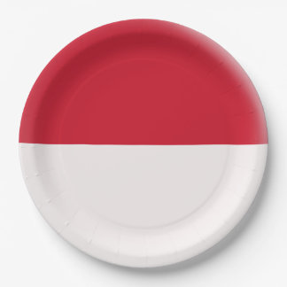 Indonesia Indonesian Flag Paper Plate