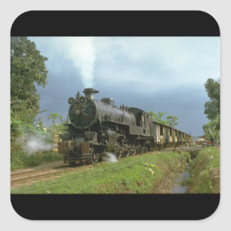 Indonesia, ISRy 4-6-4 T_Trains of the World Square Sticker