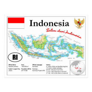 Indonesia map Postcard