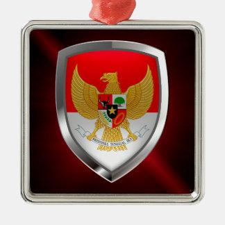 Indonesia Metallic Emblem Metal Ornament